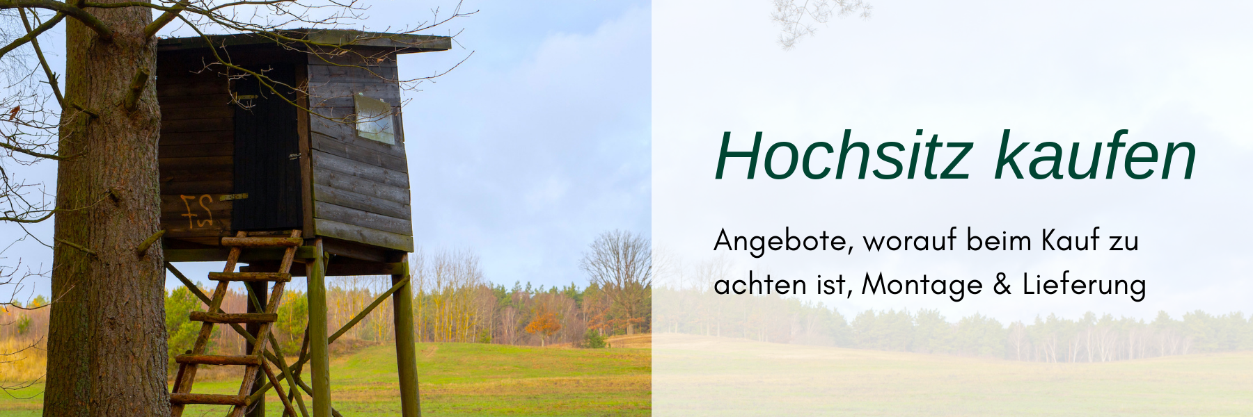 Hochsitz kaufen - Alle Informationen und Tipps
